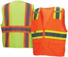 5XL RVZ24 Series 5 3 RVZ26 Series RVZ28 Series NEW 6 3 Hi-vis lightweight polyester solid material on front,