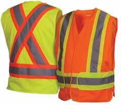 RCA2710X2 Lime 2XL adjusts to 5XL RCA2720M Orange Medium adjusts to XL RCA2720X2 Orange 2XL adjusts to 5XL Hi-vis solid polyester 2'' 3M