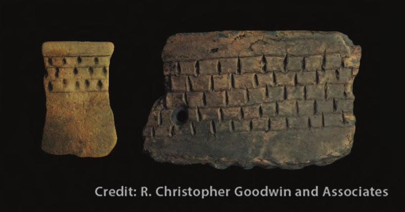 patterns (H). Some vessels had very complex designs that include rectangular, curvilinear and zoned elements (I and J).
