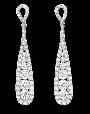 Diamond Oval Diamond Hoop Earrings 12-340 $1950