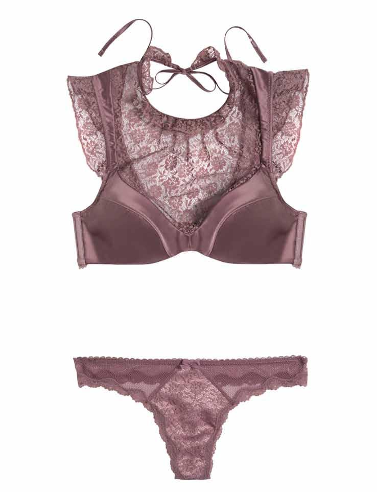 LINGERIE 17/AUG LOOK 3 Dream Angels High-Neck Bra Top $49.