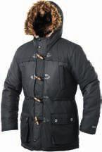 6 ORIGINA ORIGINA WOEN PARKA WOEN OUTDOOR JACKET EN KNITTED JUPER Padded winter coat with a hood. Hood has a detachable faux fur trim. The hood is lined with soft fur.