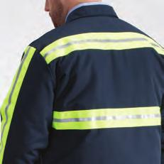 most popular UniWeave Soft Comfort work shirts and added 360º visibility protection. Reflective striping on front, back, and sleeves.