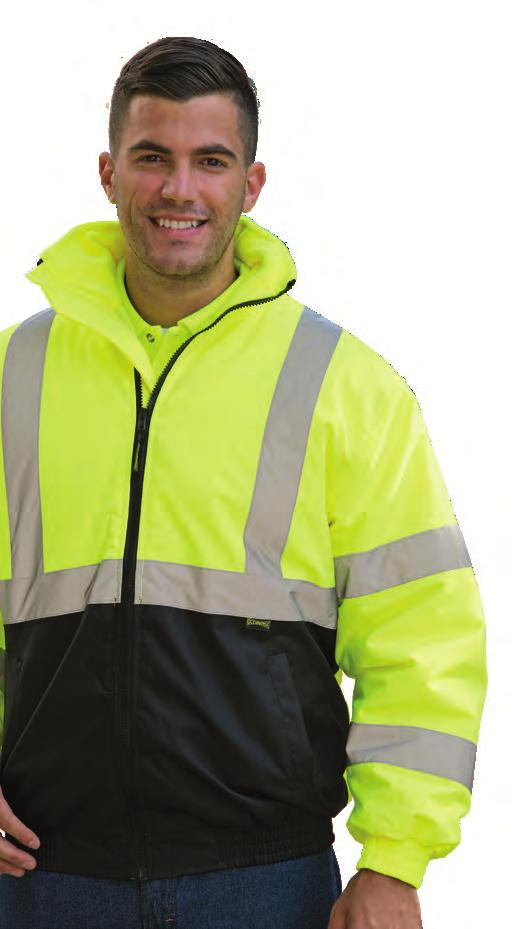 Garments have an even a greater minimum level of high visibility material the apparel must contain. A garment or vest without sleeves worn alone is NOT considered Class 3 protection.