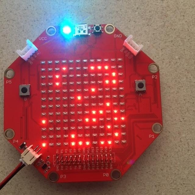 LED Matrix The LED matrix on the Sino:bit has several important differences from the one found on the Micro:bit. The most obvious is that it is a 12x12 matrix rather than a 5x5 one.