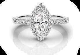 $13,999 18ct White Gold Cushion