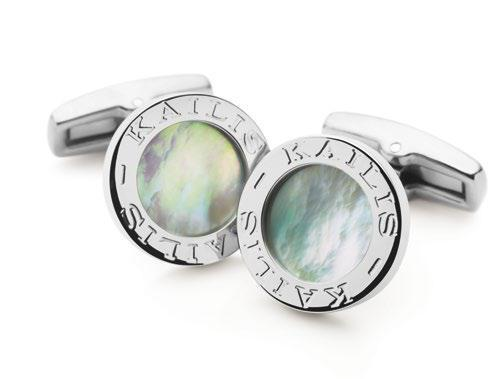 From top-left: Mother of Pearl Cufflinks,