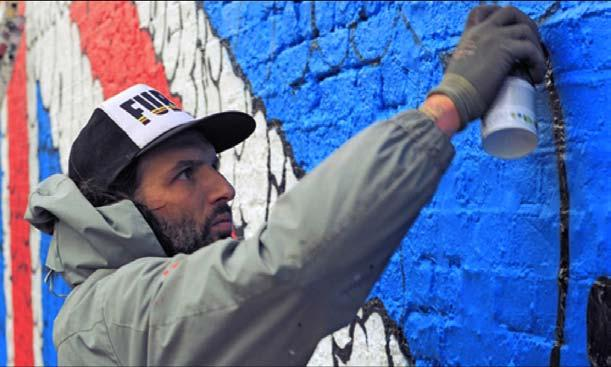 TILT Recognized internationally as a traditional graffiti artist, Tilt began his practice as a youngster on the streets and train cars of Toulouse, France.