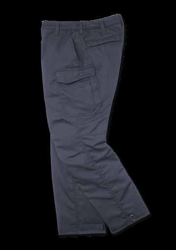 15 NEW DUAL-COMPLIANT TACTICAL PANT Contoured waistband Pleated, articulated knee Triple-felled seams Bottom of pant