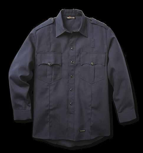 6 SHIRTS FIRE OFFICER SHIRTS Autoclaved with Workrite Uniform s PerfectPress process for a professional appearance Five sewn-in military creases Epaulets Banded collar Scalloped pockets Pencil slot