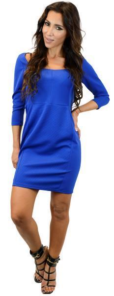 Contrast Piping Bodycon Dress whsl $