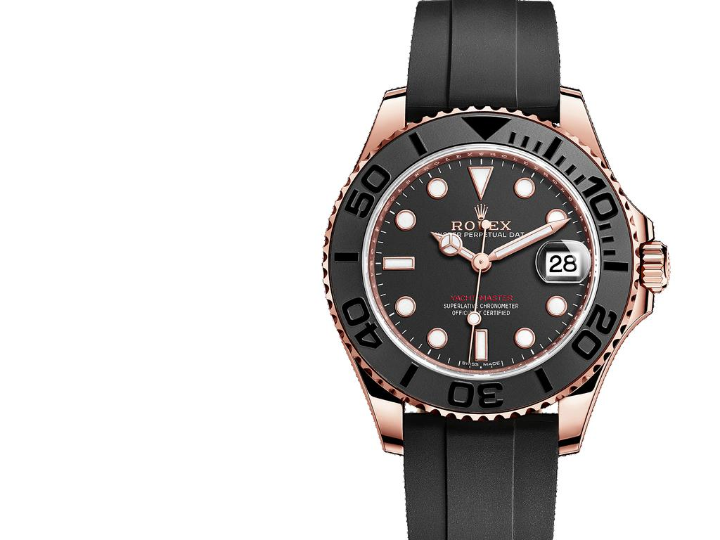 Oyster, 37 mm, Everose gold YACHT-MASTER 37 Sleek, sporty,
