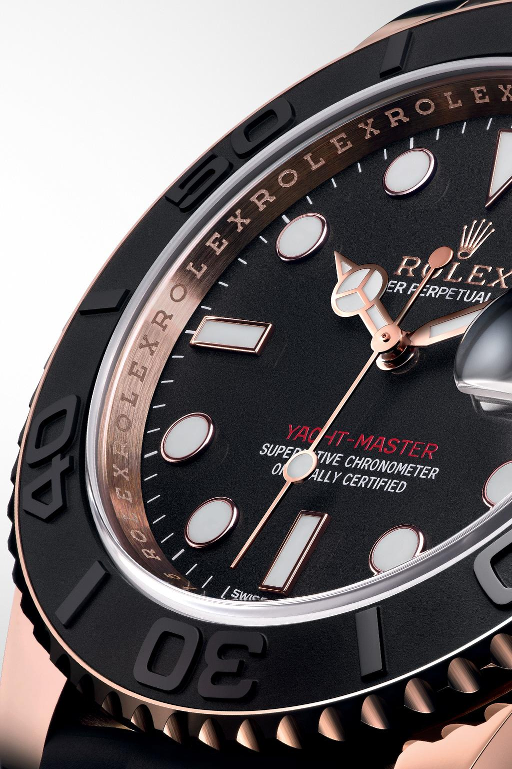 Function of the Yacht-Master 40 BIDIRECTIONAL ROTATABLE BEZEL The Yacht-Master s bidirectional rotatable 60-minute