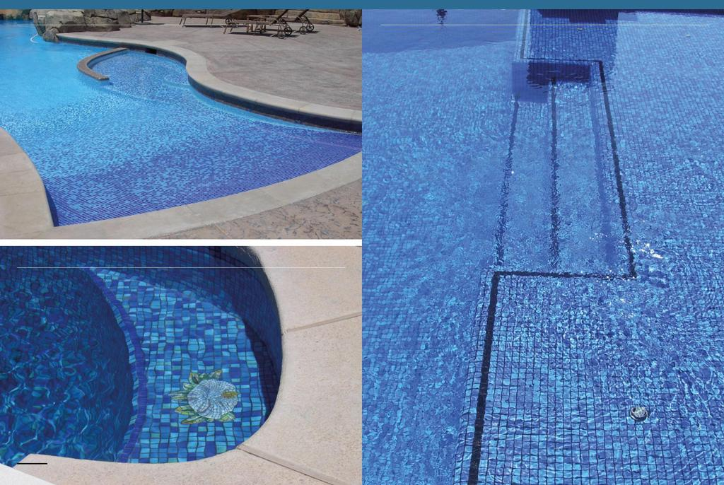 Private swimming pools, customized degradé Private swimming