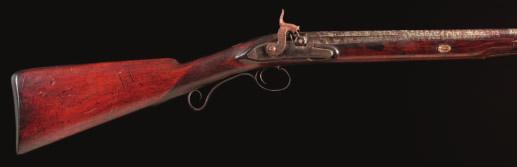 50 51 50 A PERCUSSION SPORTING GUN BY COOK, BATH, CIRCA 1800 converted from flintlock, with two-stage Spanish barrel stamped with the gold-lined marks of Juan Esteban Bustindui of Eibar (Neue Støckel