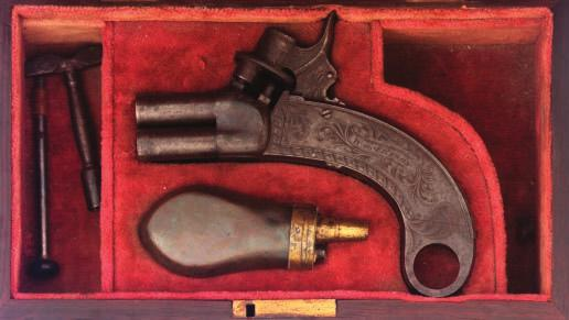 138 137 AN IRISH PERCUSSION OFFICER S PISTOL BY WILLIAM & JOHN RIGBY, DUBLIN, NO.