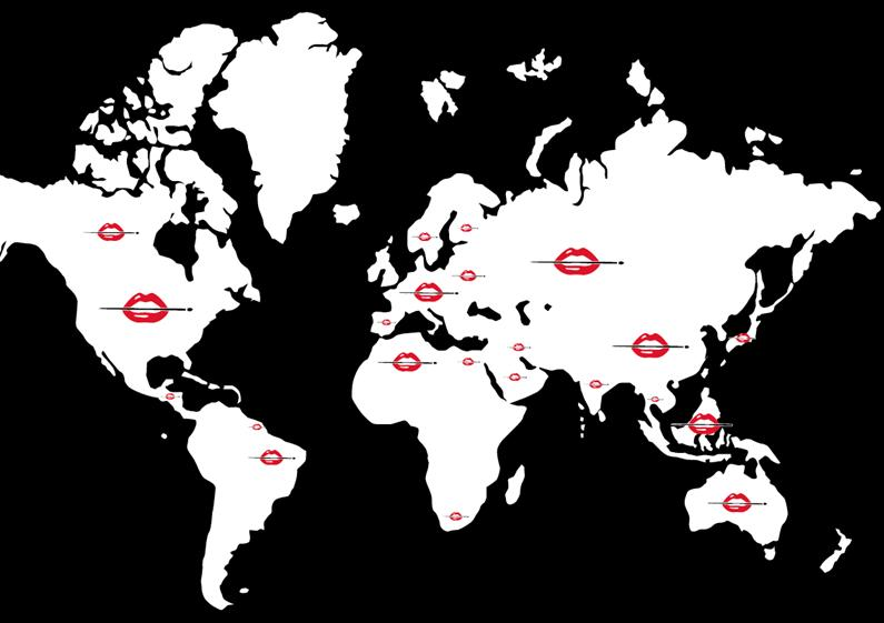 MAKE UP FOR EVER A WORLWIDE BRAND MAKE UP FOR EVER AROUND THE WORLD KEY TERRITORIES: USA/CANADA