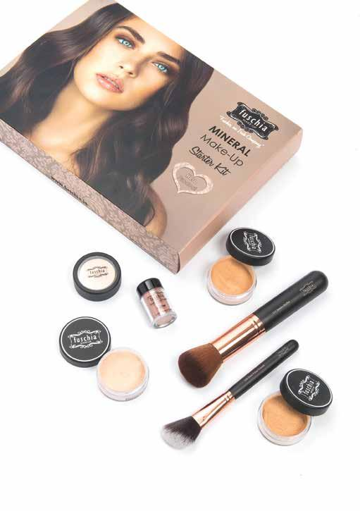 Mineral Make-Up Starter Kit 49.95 Available in three shades; Fair, Medium and Tan.
