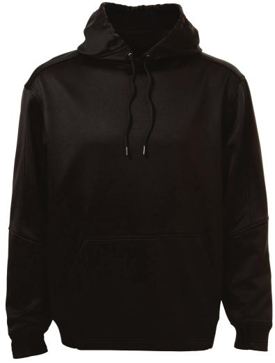 contrast lining and drawstring /Charcoal, Black/Gold ATC PTECH FLEECE HOODED SWEATSHIRT.