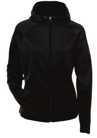 00 ATC PTECH FLEECE HOODED LADIES' JACKET 12-oz, 100% polyester double-knit eece Storm ap Scuba