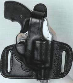 The three slots will permit the user to position the holster cross draw or strong side, slight muzzle to the rear or straight up and down.