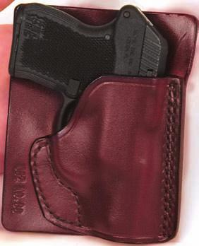 20 CONCEALMENT HOLSTERS D.A.H. SMALL OF BACK OR STRONG SIDE This holster is form molded to a snug fit, compact, easy to conceal.