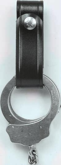 "Fits up to 1 1/2"" belts. Available in Black or Saddle Brown: Finish - Plain."