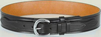 "DUTY / TROUSER BELTS 29 B111-L The rugged 1 3/4"" Garrison Belt is constructed from two pieces of cowhide leather glued together. Stitched and a nice finished edge. Has a removable buckle."