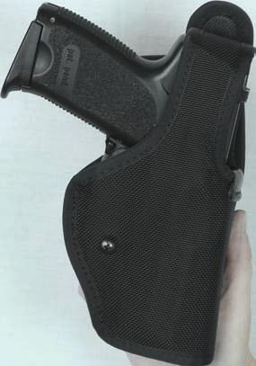 To activate simply release the low profile thumb break and continue moving thumb downward to release the secondary trigger guard release.