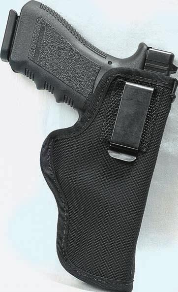 BALLISTIC NYLON 41 REFERENCE CHART FOR NH715 AVAILABLE FOR THE FOLLOWING WEAPONS: NH715 AMBIDEXTROUS The inside the waistband holster features a reinforced strip sewed to the inside front to aid in