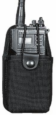 "46 BALLISTIC NYLON NUNIVERSAL RADIO HOLDER This holder will adjust to fit most hand held radios. Velcro closure. Sewn down belt loop to fit a 2 1/4"" belt. ND.H. BALLISTIC NYLON RADIO HOLDER The ND."