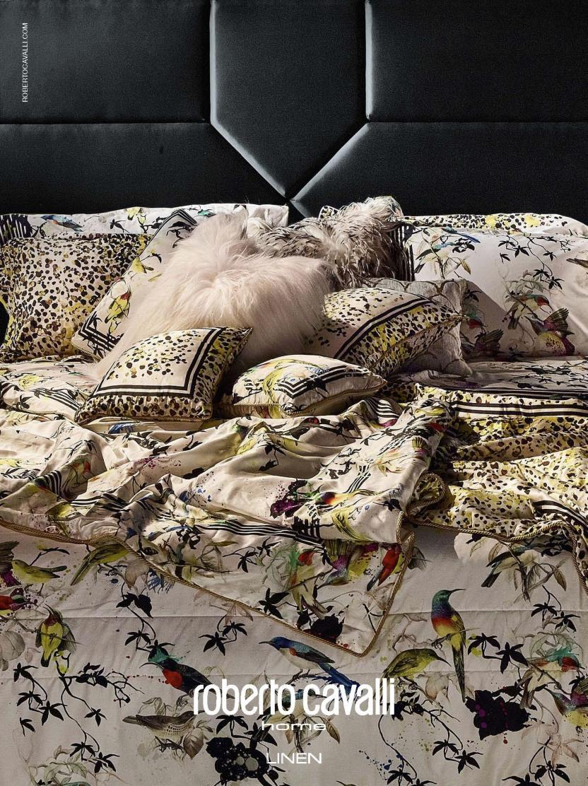 The Roberto Cavalli Home Linen Collection There is no difference between the thinking behind designing
