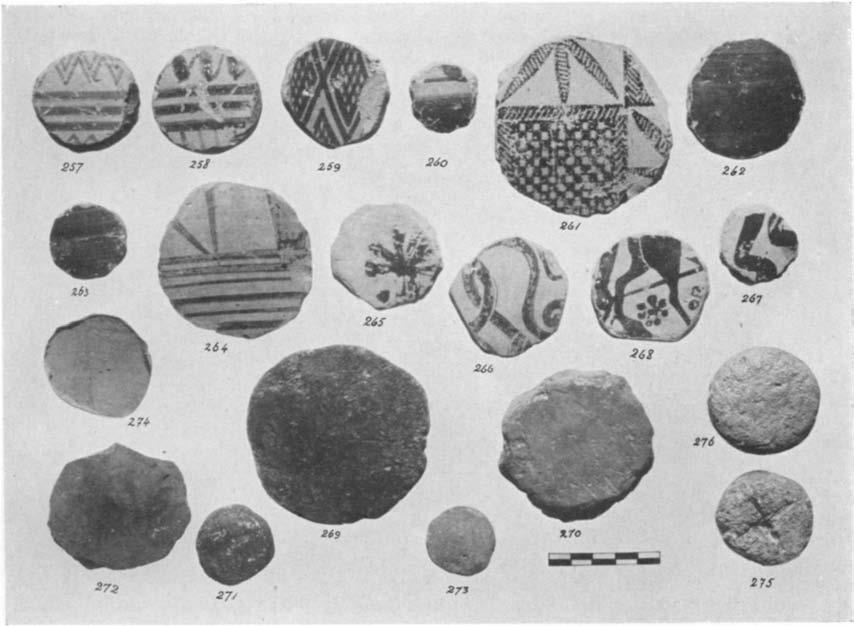 Disks A GEOMETRIC HOUSE AND A PROTO-ATrrIC VOTIVE DEP'OSIT 603 As we have note(l above (p. 564), 119 disks cut out of pottery were found scattered throughout the votive deposit and the Area A-C.