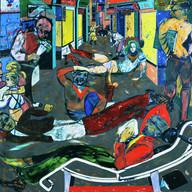 gm_356531ex2.tif Creator(s): R.B. Kitaj (American, 1932-2007) Title/Date: Cecil Court, London W.C.2. (The Refugees), 1983 1984 American Unframed: 183 183 cm (72 1/16 72 1/16 in.