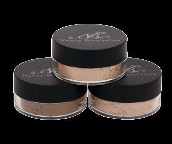 Flawless Face A mineral power foundation that is light on the skin and leaves a flawless, glowing finish.