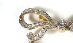 1 gms 60-80 Lot 536 536 A 19th century yellow metal ring set old cut diamond cluster in