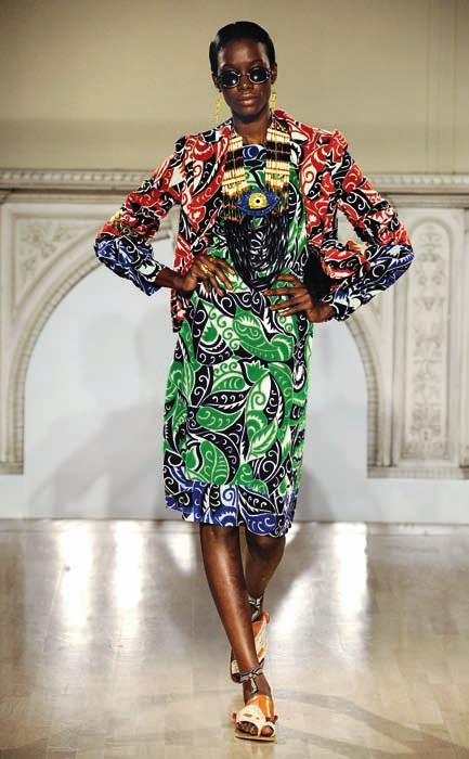 20 DURO OLOWU Prints Charming At Duro Olowu s New York Fashion Week debut at the Milk Studios, his models, including Georgie Baddiel, Kinée Diouf and Sigail Currie, came into view wearing an elegant
