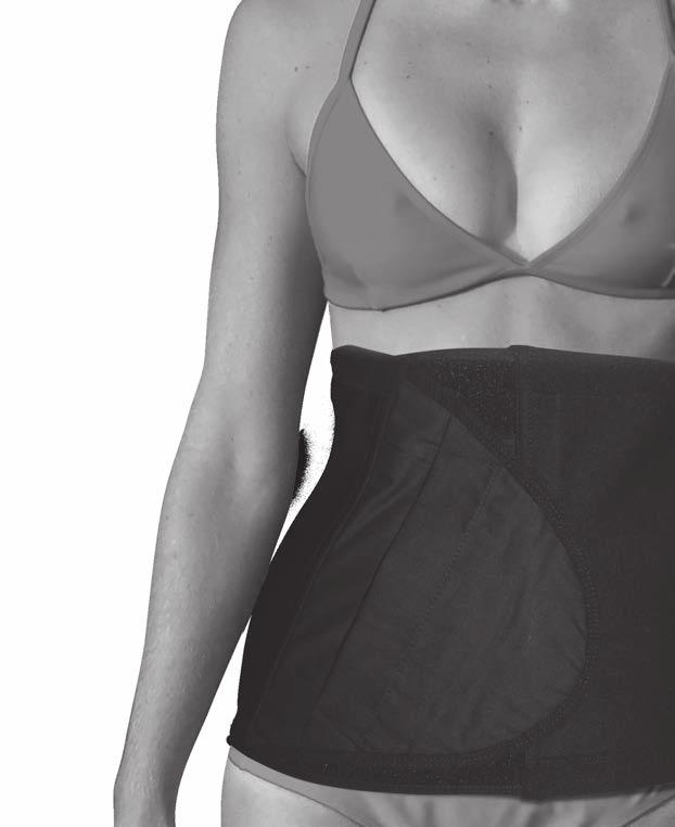 Hernia/Ostomy Support Belt TM Revolutionary 2-way stretch fabric is supportive yet comfortable The fabric conforms to fit an individuals shape during daily activity A unique glove design allows easy