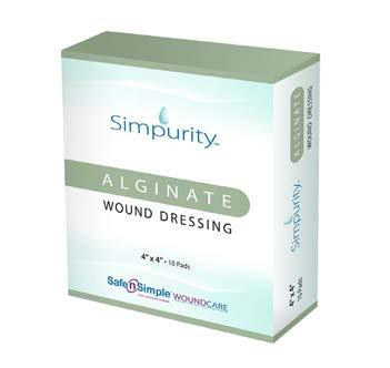 Alginates Alginate Wound Dressing Simpurity Alginate Dressings are derived from seaweed.