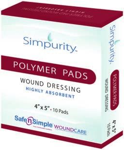 Fibergels Fibergel Pad Wound Dressing Simpurity Fibergel Wound Dressing is a soft, absorbent material that forms into a gel when in contact with exudate.