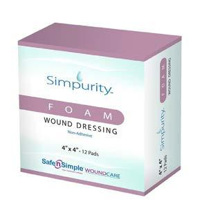 Foams Foam Wound Dressing Simpurity Foam Wound Dressings are designed to help manage moderate-to-highly draining wounds.