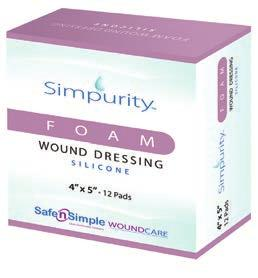 Foams Foam Wound Dressing - Ionic Silver Simpurity Foam Dressing is a silver ion-containing polyurethane foam dressing that protects wounds from bacterial penetration while reducing the bioburden in