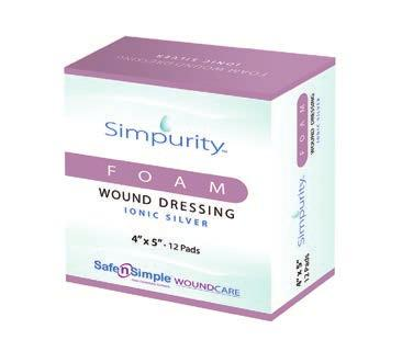 It is indicated for the management of moderate-to-high exudate for chronic and acute wounds and helps maintain a moist healing environment.