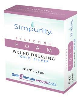 Foams Foam Wound Dressing - Bordered Silicone Simpurity Silicone Foam Bordered Dressing is a superior absorbent dressing for moderate to high wound exudate management.