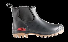 This is because sweat cannot be absorbed by PVC and when heat and sweat combine, germs and bacteria form rapidly. ANKLE GUMBOOT/JABT Recycled PVC upper.