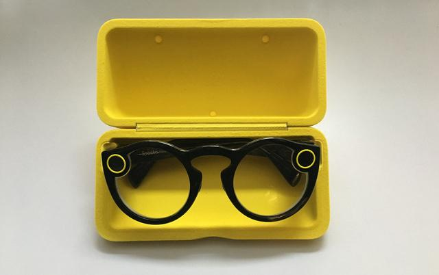Snapchat Spectacles That's right, Snapchat has released their Spectacles, a line of sunglasses with a tiny camera and microphone mounted into the frames.