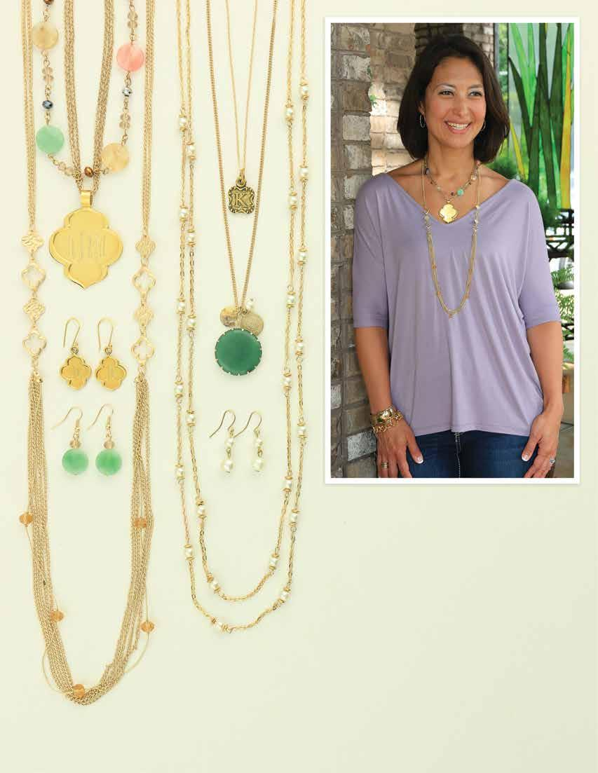 D. A. B. E. C. F. 44 Style Tip: Go long! A long necklace elongates your lines - adding inches to your height and taking 5 lbs. off (so they say!) a.