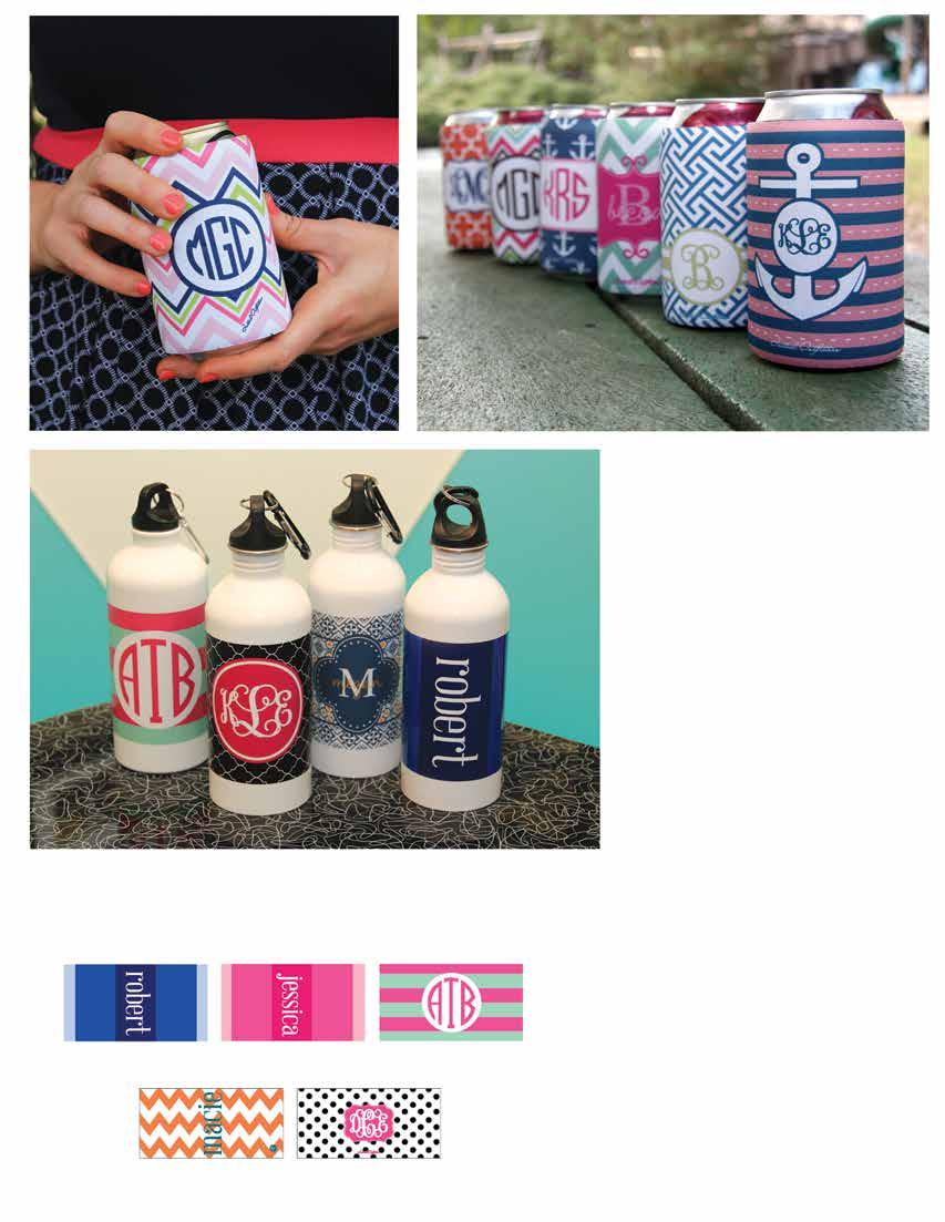 Can Cooler Wraps Keep your drink cool in a stylish way! The velcro closure allows this wrap to fit multiple sizes. Great for cans and bottles of water! -13 Can Cooler Wrap $20 (Ex.