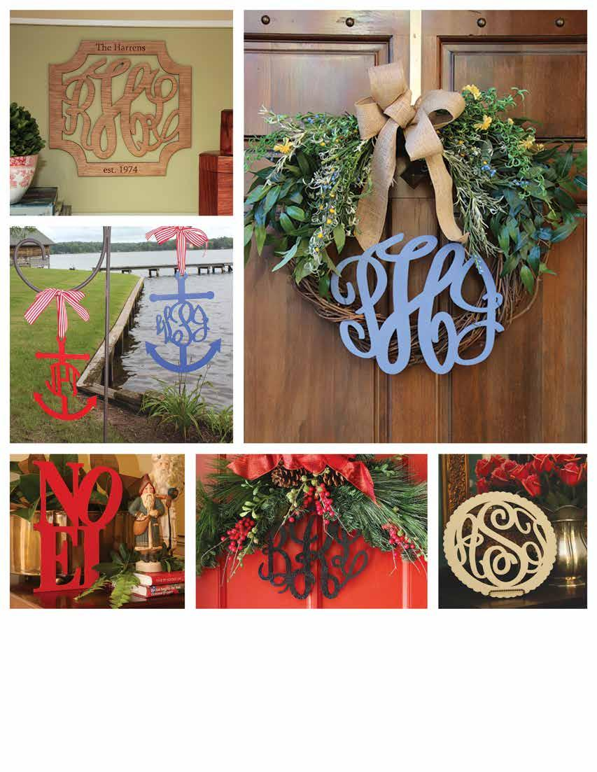A. B. C. D. E. F. WOODEN MONOGRAMS 72 Wreaths say welcome a monogrammed wreath says welcome to our home!