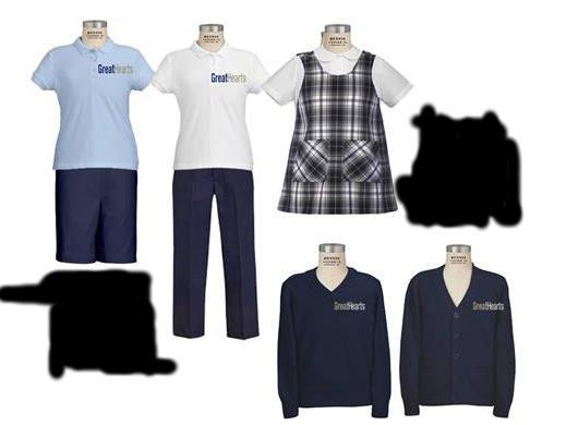 GIRLS (K-6 th ) K-4 Girls Uniform Short-sleeve or long-sleeve polo Navy-blue pants or shorts or similar vendor AND/OR Navy-blue and khaki plaid skort Navy-blue sweater * K-2 only: Plaid jumper &